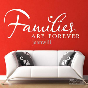 Families Are Forever Wall Quote Decal Sticker Decor Lettering Saying ...