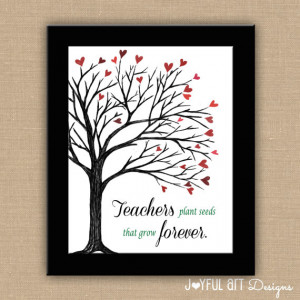 Teachers Plant Seeds That Grow Forever PRINTABLE. Custom Teacher Name ...