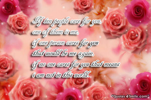 Care For You Romantic Quotes