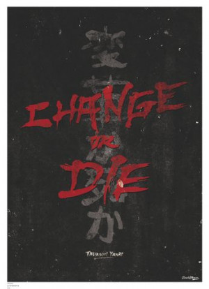 Inspirational quotes: Change, by Tadashi Yanai canvas poster Black ...