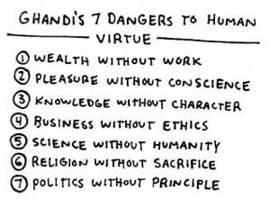 Gandhi 7 Virtues Quote