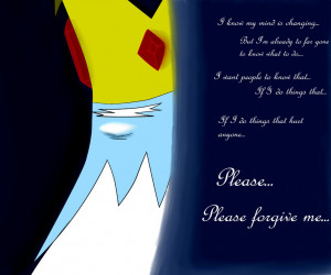 Adventure Time Quotes About Love Ice king quote background by