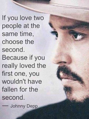 Johnny Depp Quotes Love Two...
