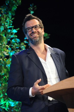Comedian Marcus Brigstocke at Hay Festival 2015 Picture: JAY WILLIAMS