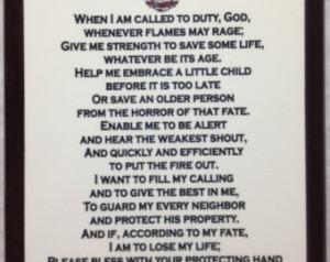 Popular items for firefighter prayer on Etsy