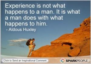 Motivational Quote by Aldous Huxley