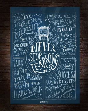 quote 'never stop learning'