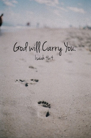 God will carry me
