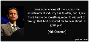 More Kirk Cameron Quotes