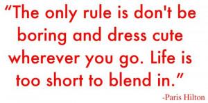 Paris hilton fashion quote