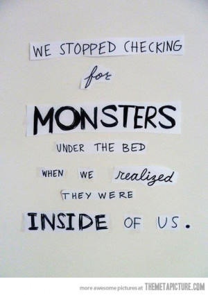 Funny photos funny monsters under the bed quote
