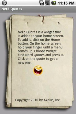 View bigger - Geeky Nerd Quotes Widget for Android screenshot