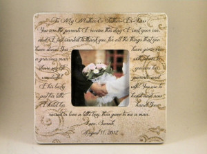 Mother In Law Frame In Laws Poem Quote Custom Frame