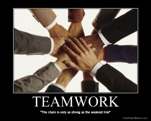 "Teamwork "" The Chain Is Only As Strong As The Weakest Link """