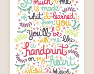 8x10-in Wicked Quote Illustration P rint. ...