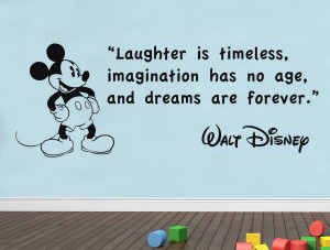 LAUGHTER-IS-TIMELESS-Walt-Disney-Quote-Decal-WALL-STICKER-Art-Mickey ...