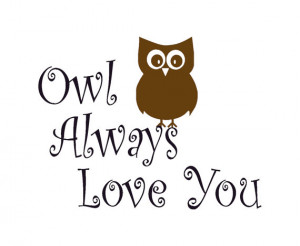 quote wall sticker, owl wall decal, wall words sticker, love quote ...