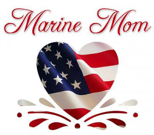 marine mom patriotic heart marines oohrah for your automobile semper ...