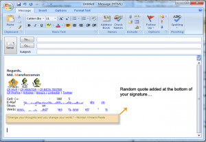 ... show the output / randomly selected quote in your email signature