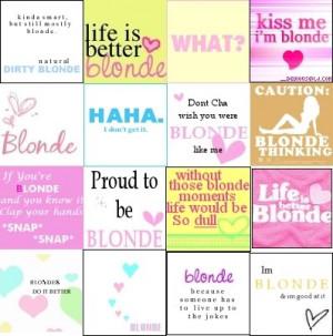 blonde sayings