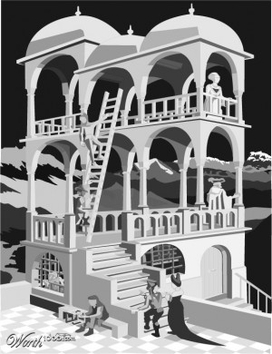 escher belvedere poster