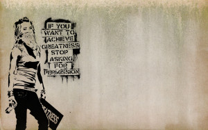 Quotes Graffiti Banksy Slogan Achievements Wide Wallpaper