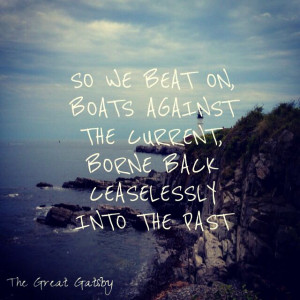 The Great Gatsby, past, lost hope, quote