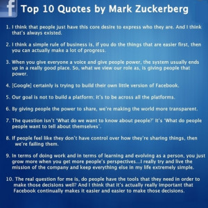 ... Quotes by Mark Zukerberg Fans | All Infographics | Leadership Advice