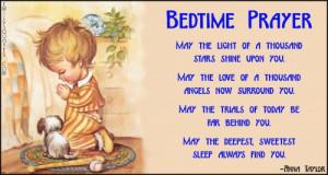 EmilysQuotes Com bedtime prayer prayer light stars love angels