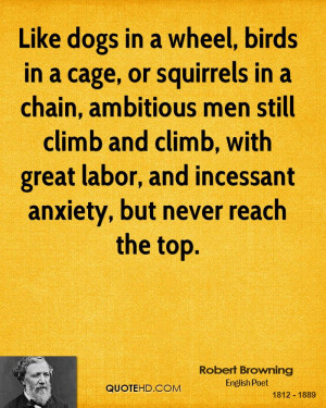 in a cage or squirrels in a chain ambitious inspirational quote