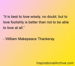 Best Love Wisely Doubt But