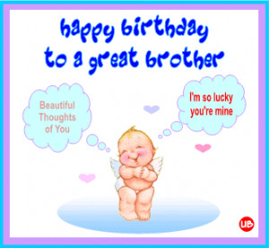 Funny Birthday Quotes For Little Brother ~ Happy Birthday Little