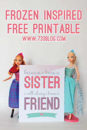 FROZEN Inspired Sisters Print