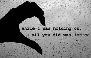 ... Part About Breaking Up Is Letting Go Of The Last Piece Of Your Heart