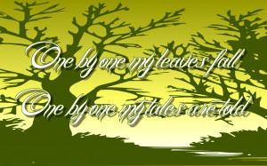 One By One - Enya Song Lyric Quote in Text Image