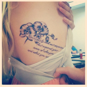who you are and what you are capable of -wild ink tattoo, quote tattoo ...