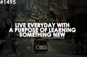 motivational_quote_live_everyday_with_a_purpose_of_learning_something ...