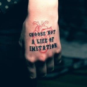 Funny Quotes Tattoo on Hand