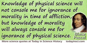 Blaise Pascal quote Knowledge of morality