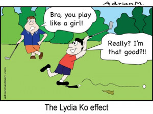 CARTOON: Playing golf like a girl