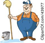 Royalty-Free (RF) Janitorial Clipart, Illustrations, Vector Graphics #