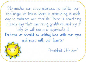 ... by President Dieter F. Uchtdorf titled
