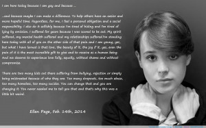 "am gay…"" –Ellen Page motivational inspirational love life quotes ..."