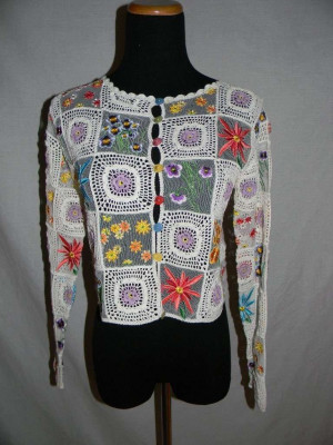 Moschino crochet and embroidered top, via eBay