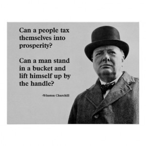 Winston Churchill Tax Quote Posters