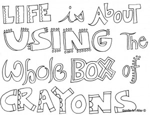 coloring page life quotes coloring pages cow coloring page to use with ...