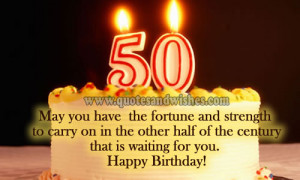 birthday greeting Happy Birthday wishes for 50 year old. 50th birthday ...