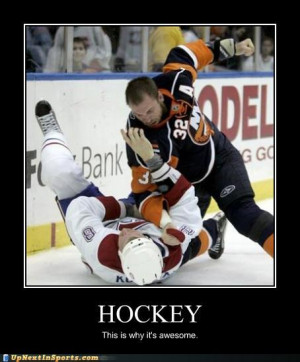 lose interest if there's not blood on the ice in the first period.