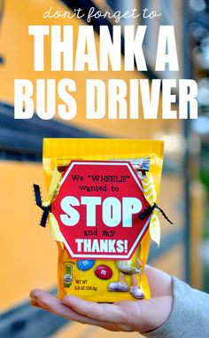 ... is the perfect idea for a bus driver gift! #happythoughts #busdriver