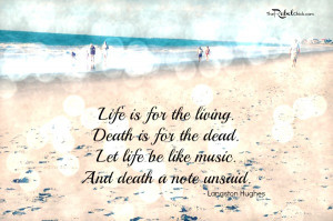 langston hughes quote about death